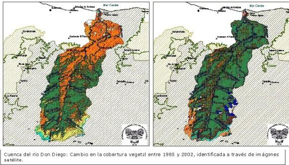 Cobertura Cuenca Rio Don Diego 1985-2002
