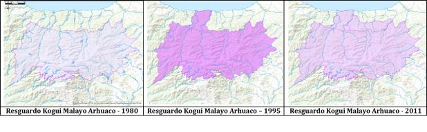 Resguardo años 1980 1995 2011